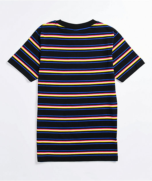 Odd Future Multi Stripe Black T-Shirt