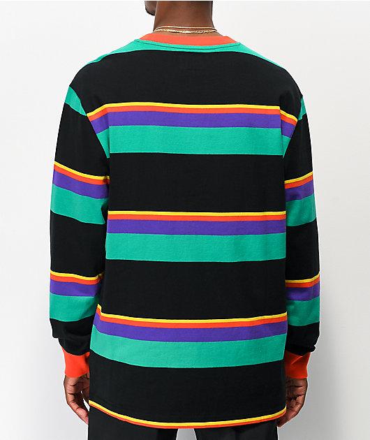 Odd Future Multi Stripe camiseta negra de manga larga