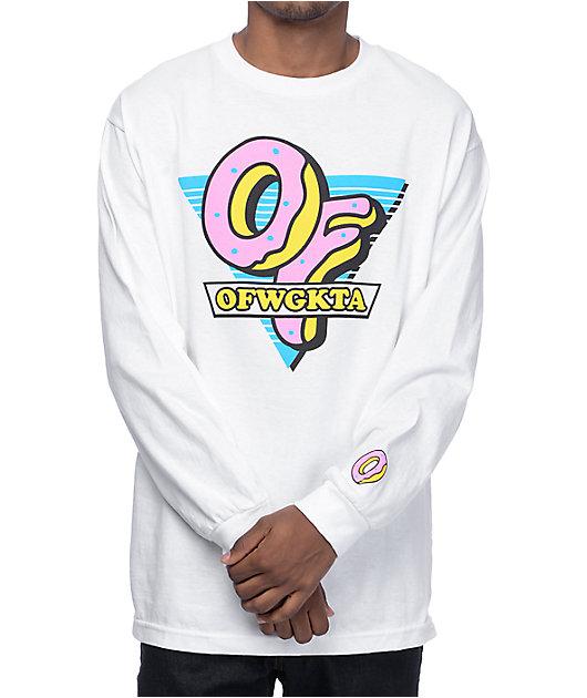Odd Future OF Triangle White Long Sleeve T-Shirt