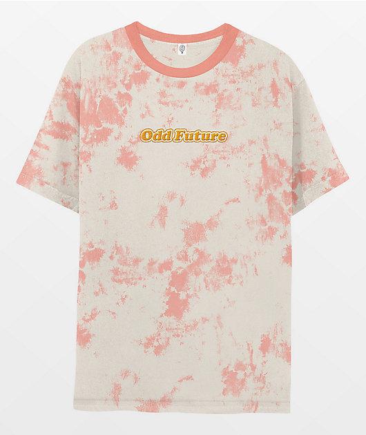 Odd Future Pink Splatter Wash T-Shirt