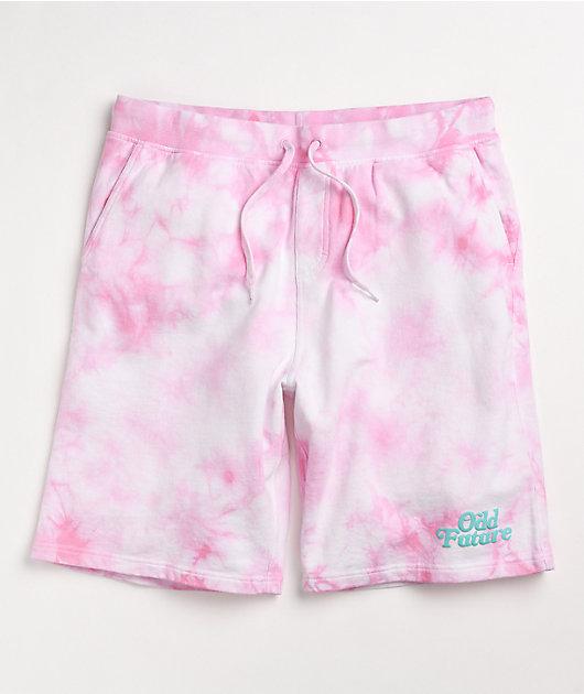 Odd Future Pink Tie Dye Sweat Shorts