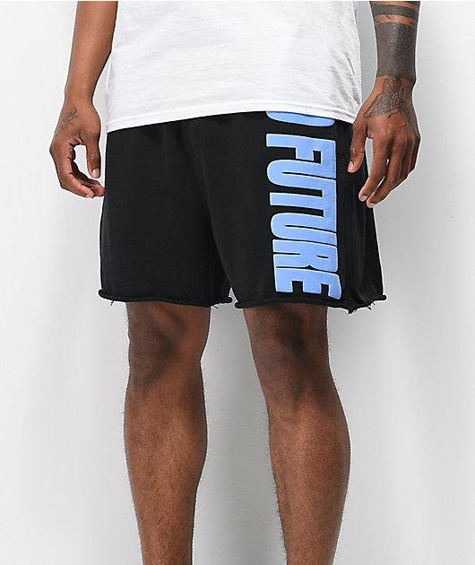 Odd Future Puff Print Black Fleece Shorts