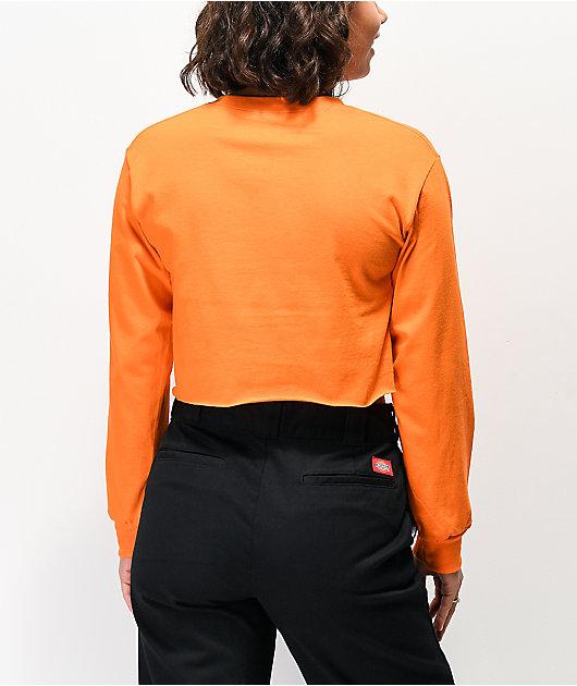 Odd Future Puff Print camiseta naranja de manga larga