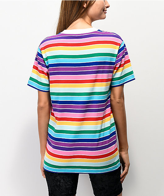 Odd Future Rainbow Stripe & White T-Shirt