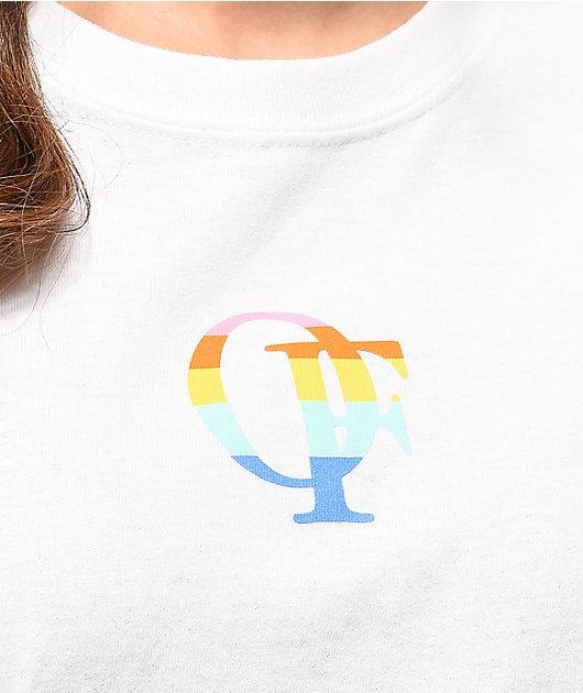 Odd Future Rainbow White Long Sleeve T-Shirt