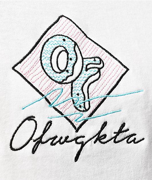 Odd Future Script Embroidery White T-Shirt