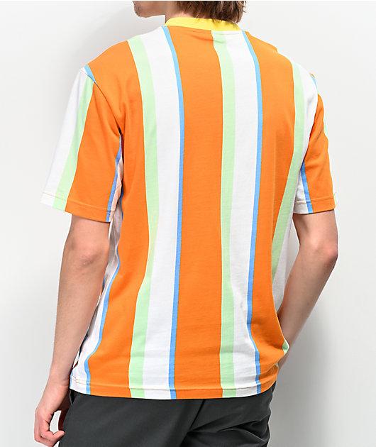 Odd Future Vertical Stripe White & Orange T-Shirt
