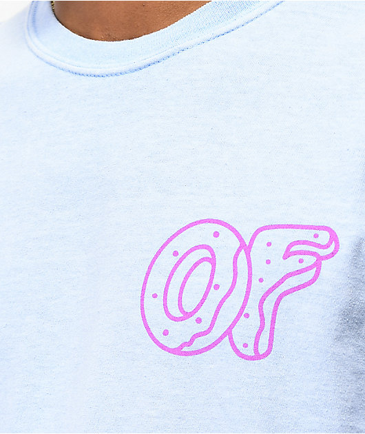 Odd Future Wavy Text Blue T-Shirt