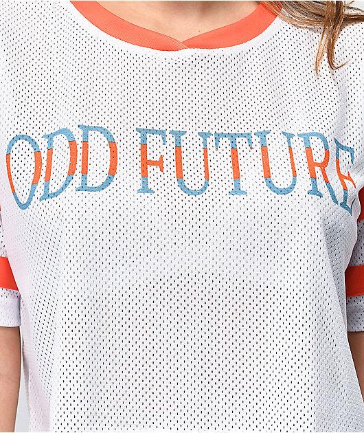 Odd Future White Mesh Crop Jersey