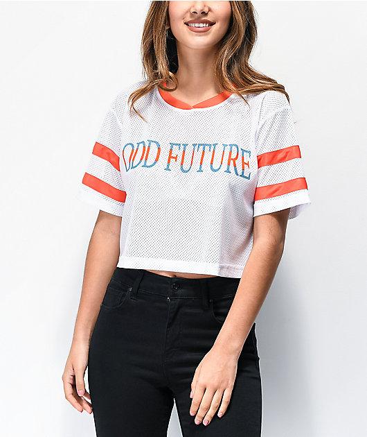 Odd Future camiseta corta de malla blanca