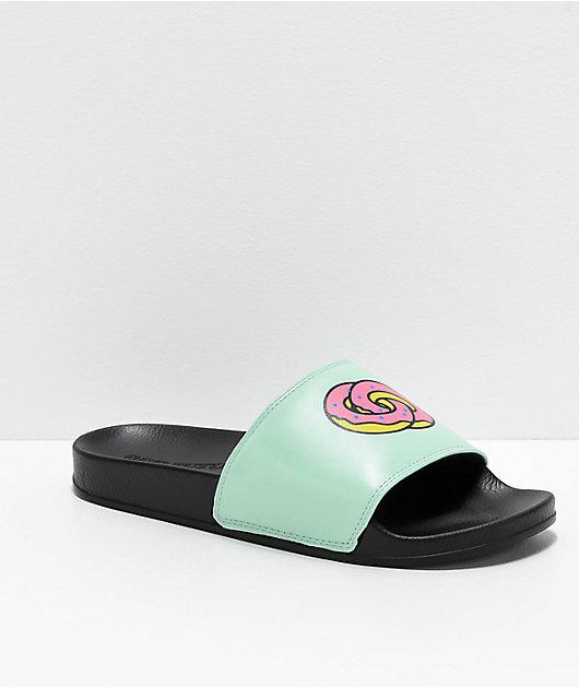 Odd Future sandalias en negro y verde azulado