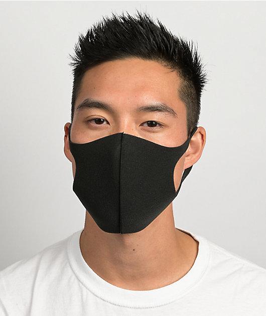 Official 3 Pack Black Poly Face Masks