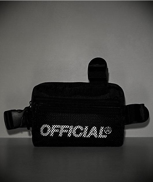 Official Melrose bolso de pecho negras de tres correas