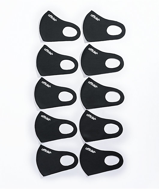 Official Nano-Polyurethane 10 Pack Black Face Covers