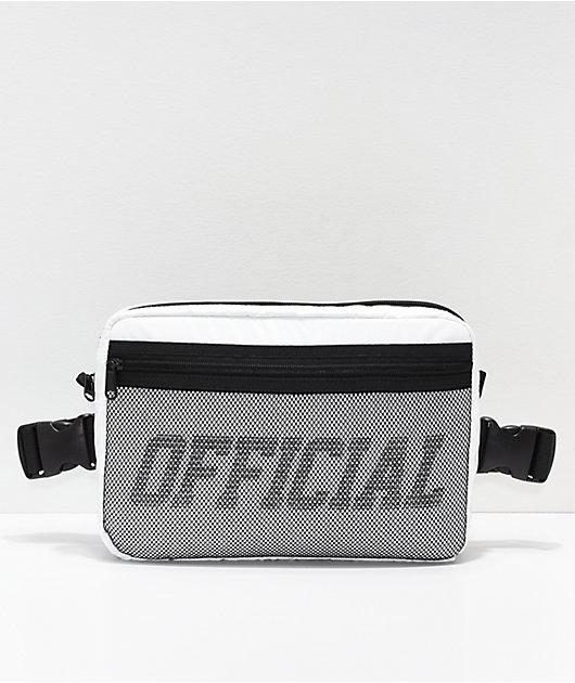 Official White & Black Utility Chest Bag