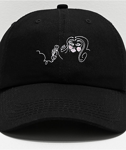 Old Friends 1-900 Black & Pink Strapback Hat