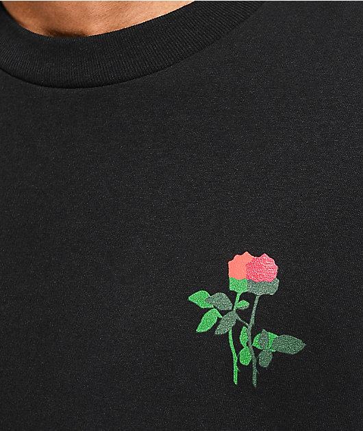 Old Friends In Bloom Black T-Shirt