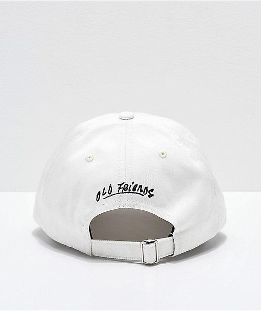 Old Friends Solo Board White Strapback Hat