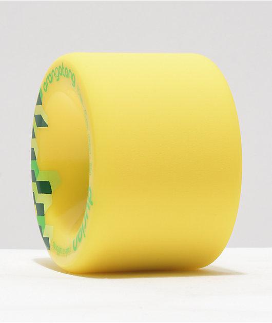 Orangatang Durian 75mm 86a Yellow Longboard Wheels