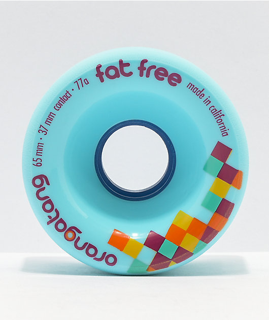 Orangatang Fat Free 65mm 77a Fat Free Blue Longboard Wheels