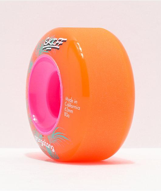Orangatang Skiff 62mm 80a Orange Longboard Wheels