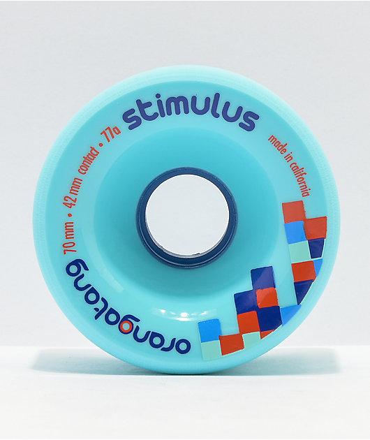 Orangatang Stimulus 70mm 77a Blue Longboard Wheels