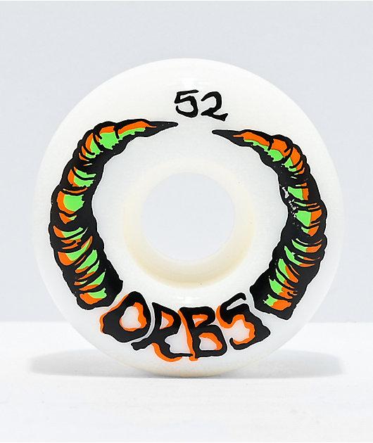 Orbs Apparitions 52mm 99a White Skateboard Wheels
