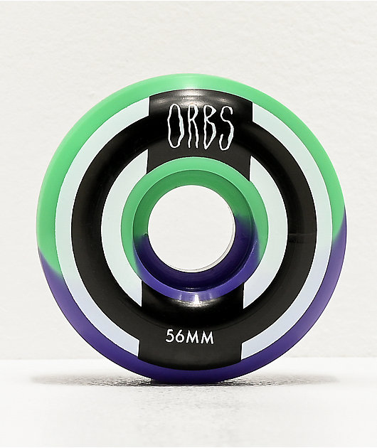 Orbs Wheels Apparitions Split Mint & Lavender 56mm 99a Skateboard Wheels