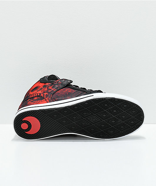 Osiris Clone Huit Battle Black & Red Skate Shoes