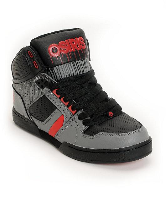 Black Drip, Grey \u0026 Red Skate Shoes   Zumiez