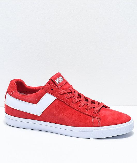 Star Lo Red \u0026 White Suede Shoes | Zumiez
