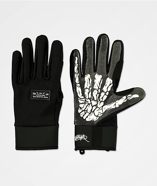 POW All Day Schoph Black Snowboard Gloves