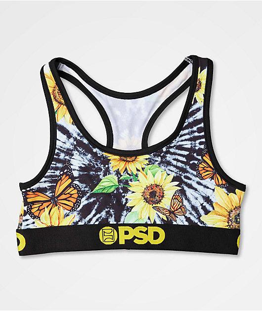 PSD Sunflower Mix Tie Dye Sports Bra