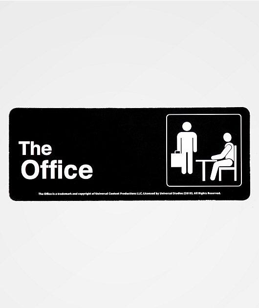 PSD x The Office Bathroom Sign Sticker