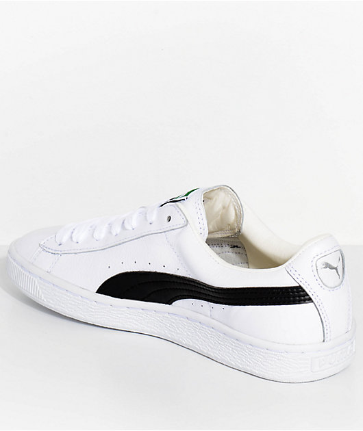 PUMA Basket Classic LFS White & Black Shoes