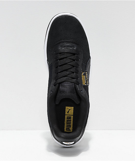 PUMA California Black & White Shoes