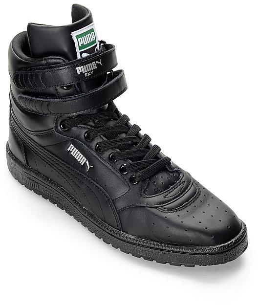PUMA Sky II Hi Black Shoes | Zumiez.ca