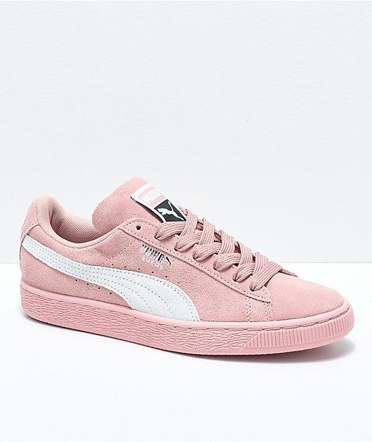 PUMA Suede Classic+ Peach Beige \u0026 White