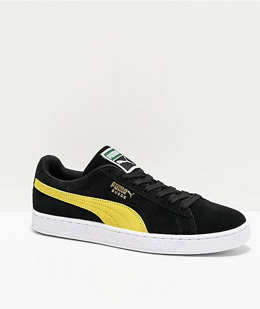 PUMA Suede Classic Black \u0026 Yellow Shoes