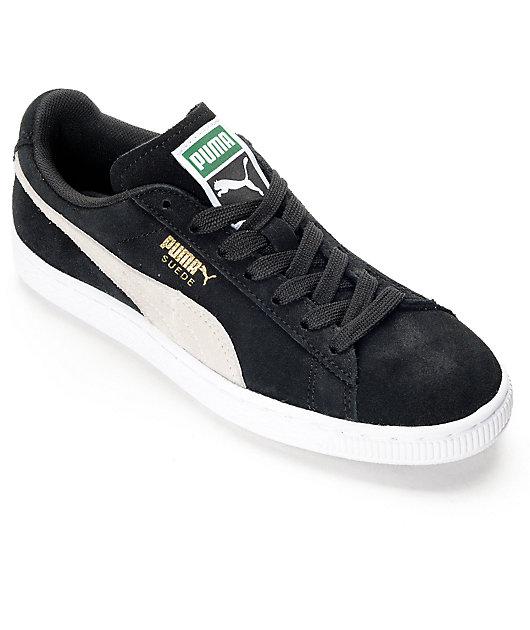 PUMA Suede Classic Black Shoes (Womens