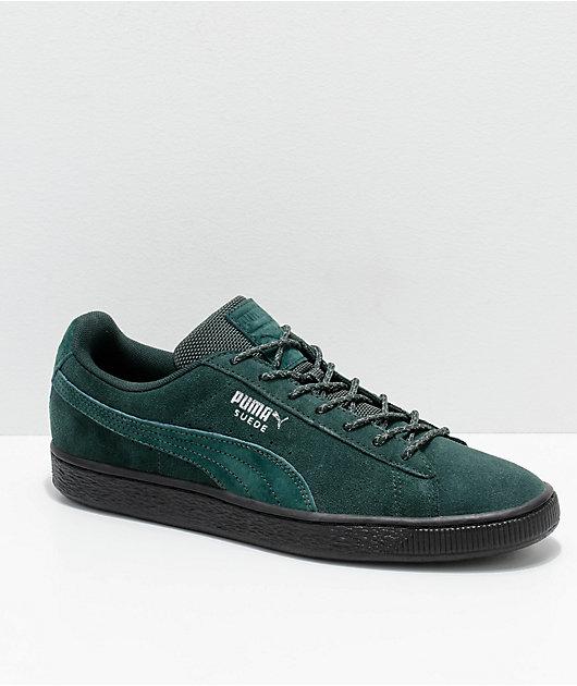 PUMA Suede Classic Green \u0026 Black