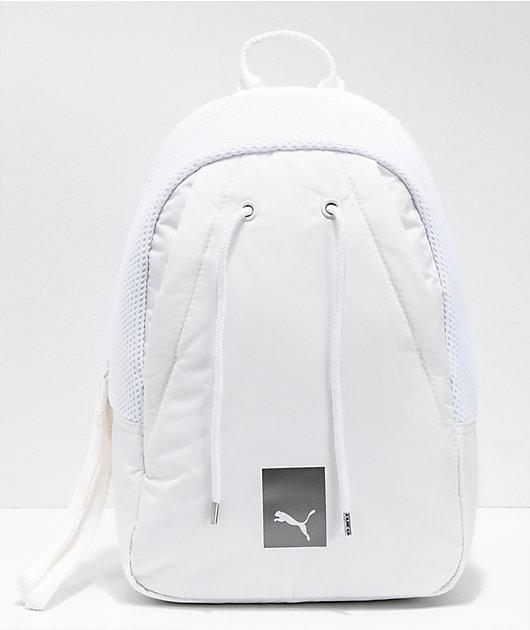 grua perecer espacio  PUMA mochila pequeña blanca | Zumiez