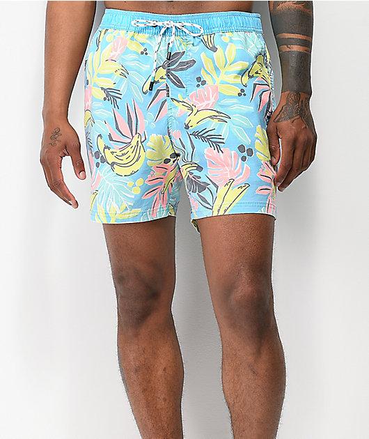 Party Pants Cut Up shorts de baño azules