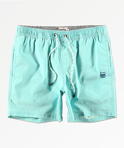 Party Pants Port Neon Mint Board Shorts