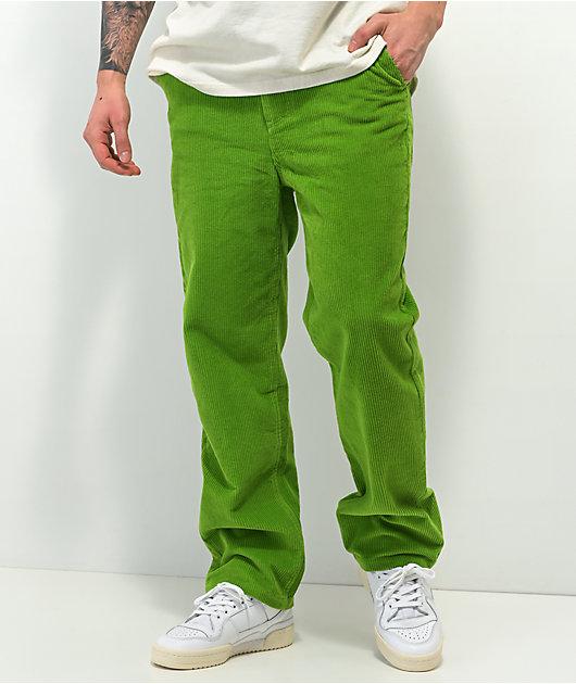 Paterson Wide Leg Green Corduroy Skate Pants
