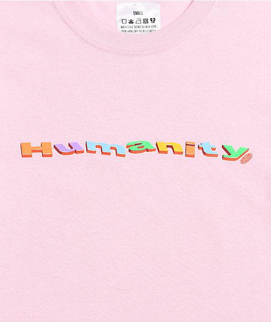 Petals and Peacocks Humanity Pink T-Shirt