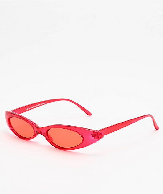 Petals and Peacocks Meow Baby Red Sunglasses