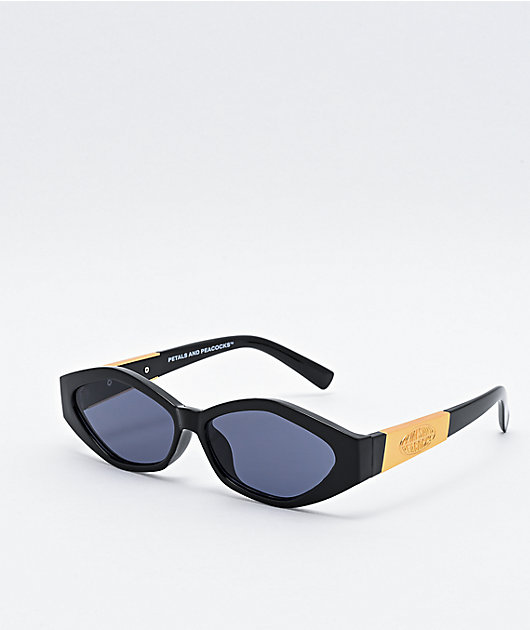 Petals and Peacocks Numerica Black & Gold Sunglasses