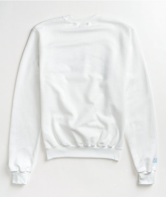 Petals and Peacocks Self Love White Crew Neck Sweatshirt