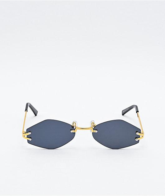 Petals and Peacocks Spears Black Mini Sunglasses